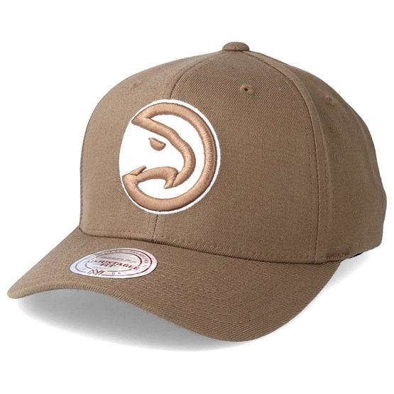 1441ffe3a9b Atlanta Hawks Flexfit 110 Camel Adjustable - Mitchell   Ness caps -  Hatstoreworld.com