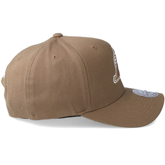 49edfa1fbed Los Angeles Lakers Flexfit 110 Camel Adjustable - Mitchell   Ness caps -  Hatstoreworld.com