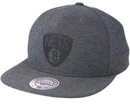 Brooklyn Nets Active Grey Snapback - Mitchell & Ness
