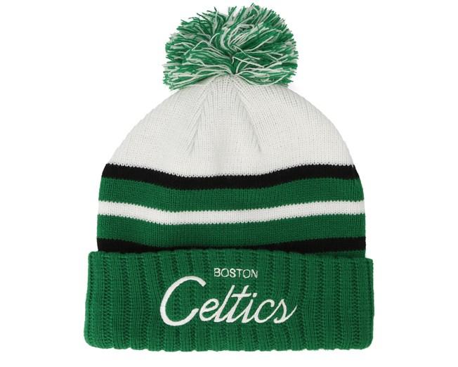 Boston Celtics Colour Block Special Script Knit Green Beanie - Mitchell    Ness beanies - Hatstoreworld.com 9e625b8a4353