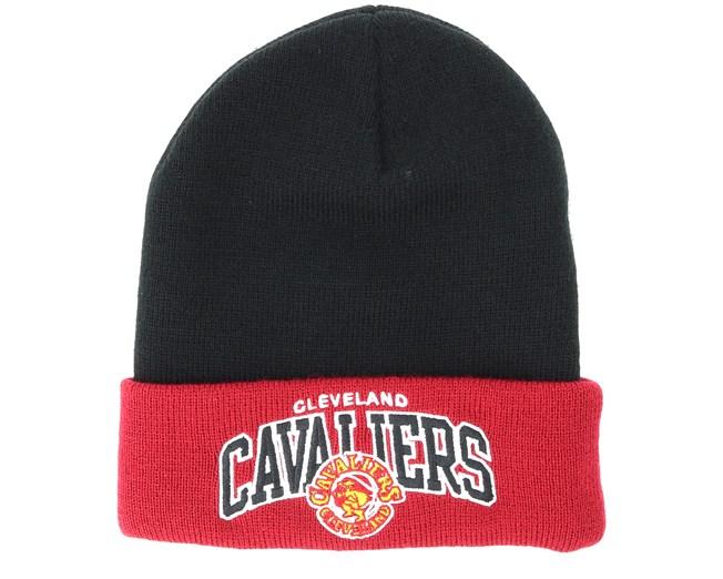106c7bf4b7f Cleveland Cavaliers Team Arch Knit Black Cuff - Mitchell   Ness beanies -  Hatstoreworld.com