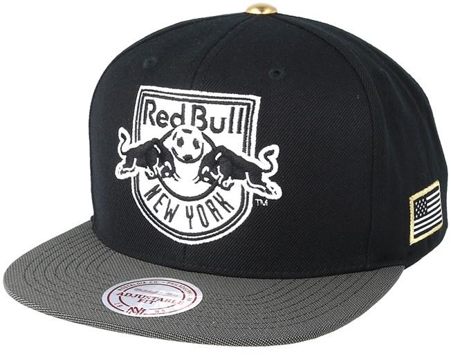 4e006c8628816 New York Red Bull Gold Tip Black Snapback - Mitchell   Ness caps -  Hatstore.ae