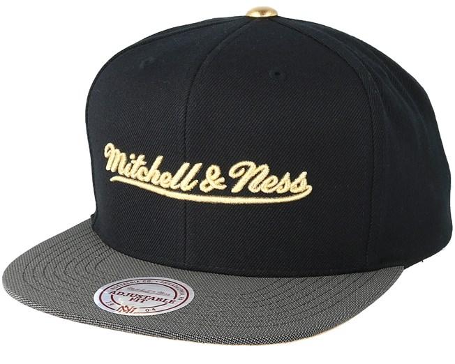 on sale a2f49 affb6 Gold Tip Black Snapback - Mitchell   Ness caps - Hatstoreworld.com