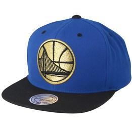 9b99fc993cadcf Mitchell & Ness Golden State Warriors Black & Gold Metallic Blue Snapback -  Mitchell & Ness AU$ 41.99