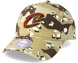 Cleveland Cavaliers Dad Hat Desert Camo Adjustable - Mitchell & Ness