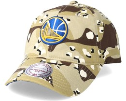 Golden State Warriors Dad Hat Desert Camo Adjustable - Mitchell & Ness
