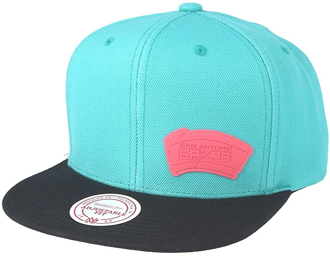 newest collection 6c2eb abc8e San Antonio Spurs Little Logo Teal Snapback - Mitchell   Ness caps -  Hatstoreworld.com