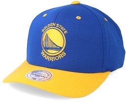 Golden State Warriors Team Logo 2-Tone 110 Royal Adjustable - Mitchell & Ness