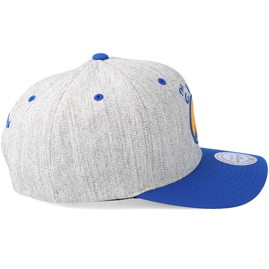 online retailer 353a1 ea289 Golden State Warriors Team 2 Logo 2-Tone 110 Royal Adjustable - Mitchell   Ness  cap - Hatstore.co.in
