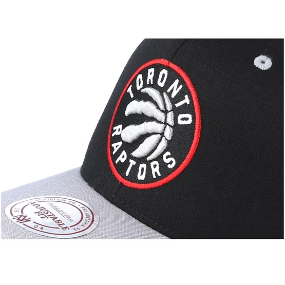 new concept 19a61 e5ecd Toronto Raptors Team Logo 2-Tone 110 Black Grey Adjustable - Mitchell    Ness caps - Hatstorecanada.com