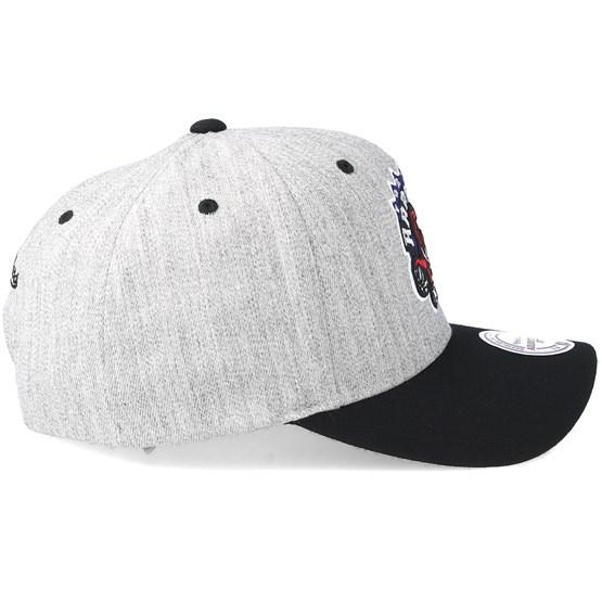 promo code 4fdca 27c3b Toronto Raptors Team Logo 2-Tone 110 Grey Black Adjustable - Mitchell    Ness caps - Hatstoreworld.com