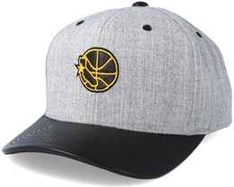 Golden State Warriors Vintage Top Shelf Curve Grey Adjustable - Mitchell & Ness