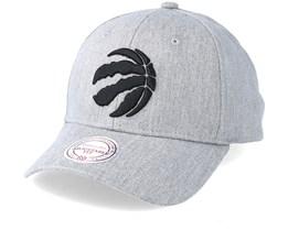 Toronto Raptors Team Logo Low Profile Heather Grey Adjustable - Mitchell    Ness 0ec461e080f