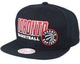 Toronto Raptors Score Keeper Black Snapback - Mitchell & Ness