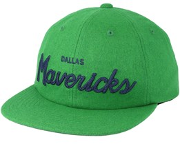 Dallas Mavericks 20's All American Green Strapback - Mitchell & Ness