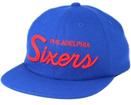Philadelphia 76ers 20's All American Blue Strapback - Mitchell & Ness