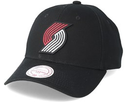 Portland Trail Blazers Team Logo Low Profile Black Adjustable - Mitchell & Ness