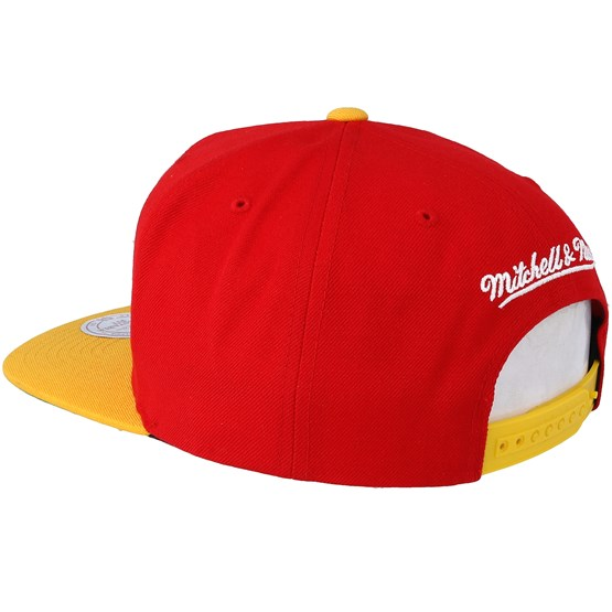 59cc81f25 Houston Rockets XL Logo 2 Tone Red Snapback - Mitchell   Ness caps -  Hatstoreworld.com