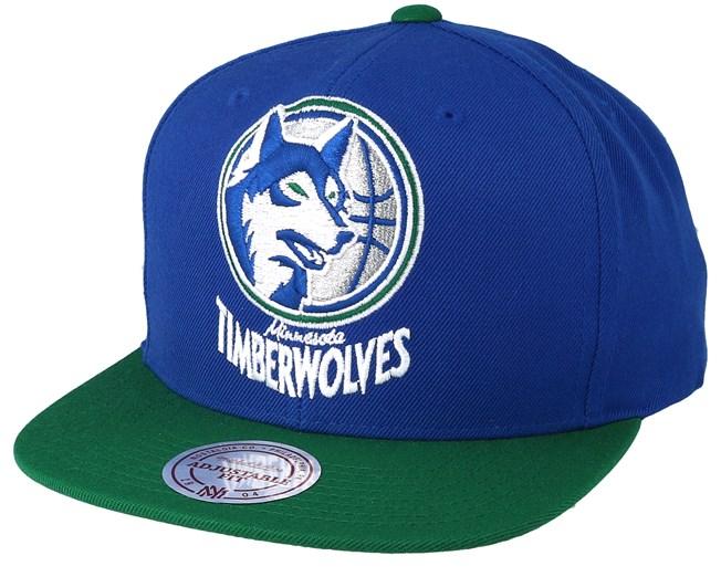 22ff8b982 Minnesota Timberwolves XL Logo 2 Tone Blue Green Snapback - Mitchell   Ness  caps - Hatstoreaustralia.com