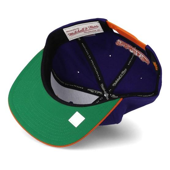 a720e8b1347 Phoenix Suns XL Logo 2 Tone Orange Purple Snapback - Mitchell   Ness caps -  Hatstoreaustralia.com