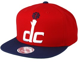 Washington Wizards XL Logo 2 Tone Red Snapback - Mitchell & Ness