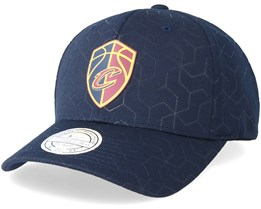 Cleveland Cavaliers Debossed Stretch Current 110 Navy Adjustable - Mitchell & Ness