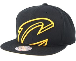 Cleveland Cavaliers Cropped Xl Black Snapback - Mitchell & Ness