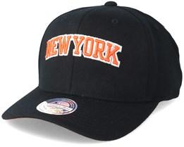 New York Knicks Courtside 2 110 Black Adjustable - Mitchell & Ness