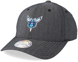 Charlotte Hornets Heringbone Grey 110 Adjustable - Mitchell & Ness
