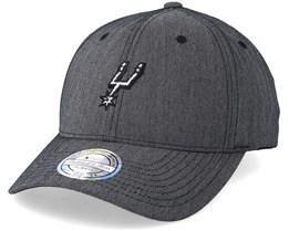 San Antonio Spurs Heringbone Grey 110 Adjustable - Mitchell & Ness
