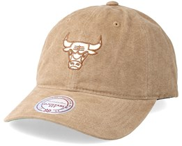 Chicago Bulls Workman´s Slouch Strapback Khaki Adjustable - Mitchell & Ness