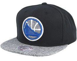 Golden State Warriors Woven Tc Black Snapback - Mitchell & Ness