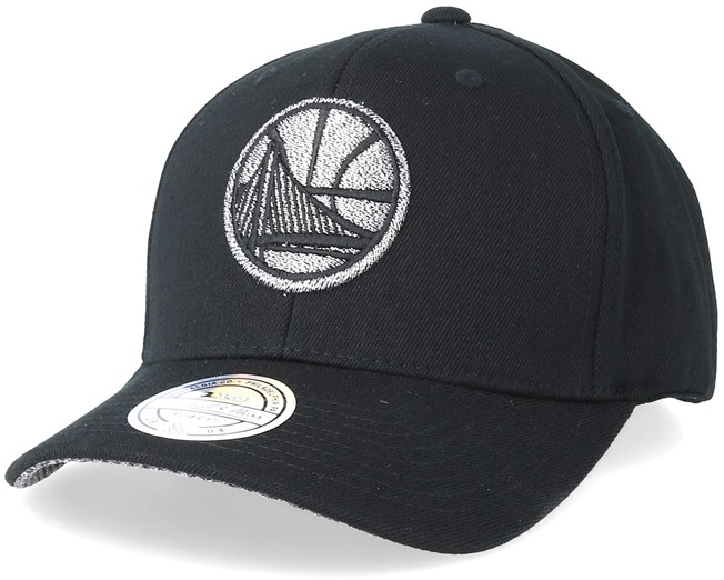 aa58c290 Golden State Warriors Melange Logo 110 Black Adjustable - Mitchell & Ness  caps - Hatstoreworld.com
