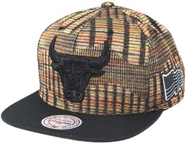 Chicago Bulls Black FLag Snapback - Mitchell & Ness