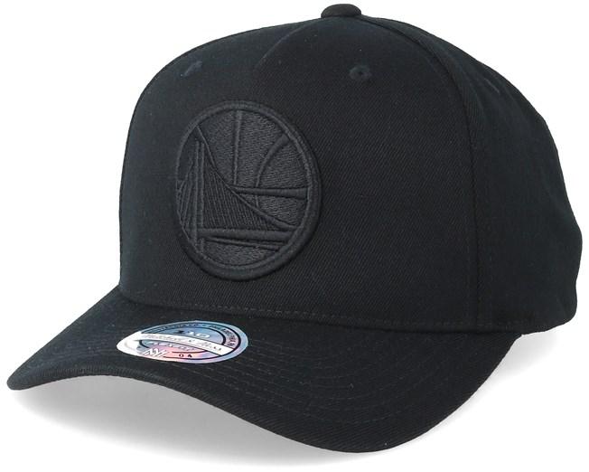 Mitchell /& Ness Black On Black 110 Curved Adjustable Snapback Cap