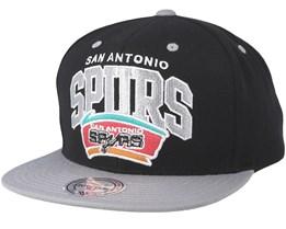 pretty nice 6050f a0488 San Antonio Spurs Team Arch Black Grey Snapback - Mitchell   Ness