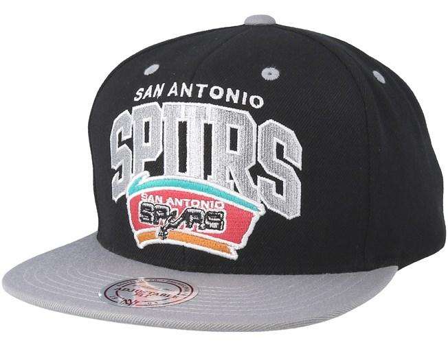 San Antonio Spurs Team Arch Black Grey Snapback - Mitchell   Ness - Start  Boné - Hatstore 4ac5ddfd1c8