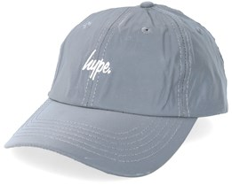 Reflective Script Dad Cap Grey Adjustable - Hype