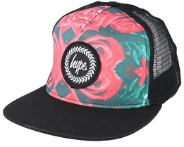 Roses Multi/Black Trucker - Hype