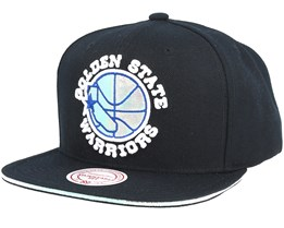 free shipping b7527 00956 Golden State Warriors Dark Hologram II Hwc Black Snapback - Mitchell   Ness