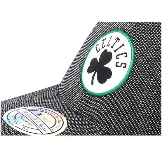 91a1684bd36d9 Boston Celtics Stretch Melange Black Grey 110 Adjustable - Mitchell   Ness  caps - Hatstoreaustralia.com