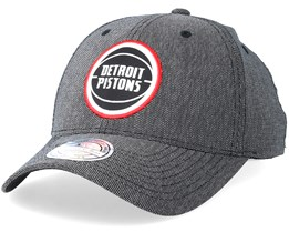 Detroit Pistons Stretch Melange Black/Grey 110 Adjustable - Mitchell & Ness