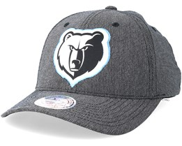 Memphis Grizzlies Stretch Melange Black/Grey 110 Adjustable - Mitchell & Ness