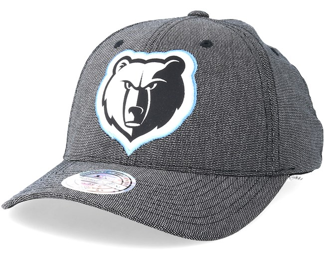 8739d8eb1 Memphis Grizzlies Stretch Melange Black Grey 110 Adjustable ...