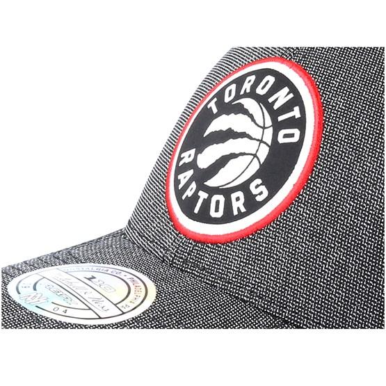 5ff61979601f3 Toronto Raptors Stretch Melange Black Grey 110 Adjustable - Mitchell   Ness  caps - Hatstoreaustralia.com
