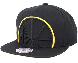 Golden State Warriors Cropped Xl Black Snapback - Mitchell & Ness