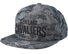 Cleveland Cavaliers Crowler Black Camo Snapback - Mitchell & Ness