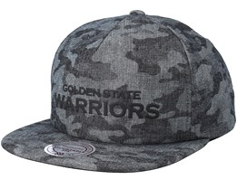 Golden State Warriors Crowler Black Camo Snapback - Mitchell & Ness