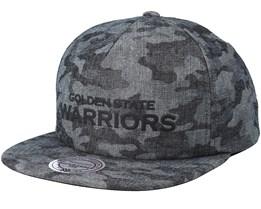 Golden State Warriors Crowler Black Camo Snapback - Mitchell & Ness