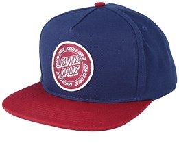 Ring Dot Indigo/Burgundy Snapback - Santa Cruz